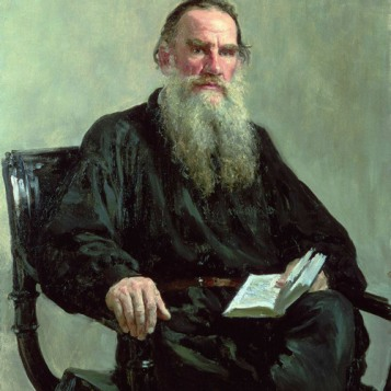 Tolstoy Reading his Calendar of Wisdom
