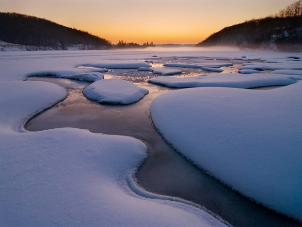 frozen-river-at-sunset
